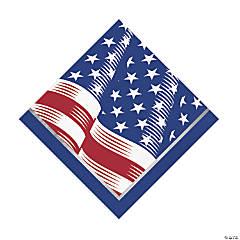Shining Flag USA Luncheon Napkins