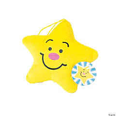 Shining Nativity Plush Stars with Card