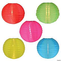 Sienna 5-Count Multi-Color C7 Lantern Garden Patio Light Set  9ft White Wire