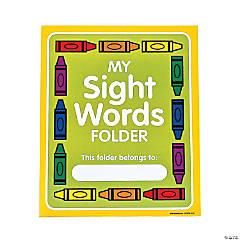 Sight Word Pocket Folders