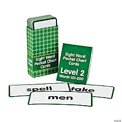 Sight Words Pocket Chart Cards - Level 2
