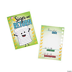 Sign and Return Punch Cards