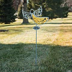 Silhouette Angel Yard Stake