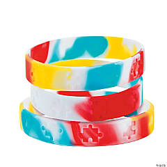 Silicone Autism Awareness Bracelets