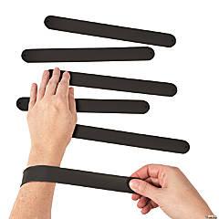 Silicone Black Slap Bracelets