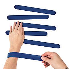 Silicone Blue Slap Bracelets