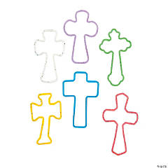 Silicone Glitter Cross Fun Bands