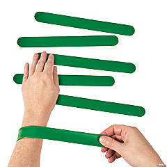 Silicone Green Slap Bracelets