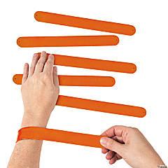 Silicone Orange Slap Bracelets