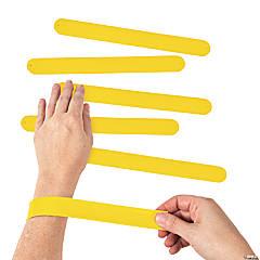 Silicone Yellow Slap Bracelets