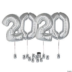 Silver 2020 Balloon Kit