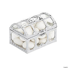 Silver & Clear Trunk Favor Containers