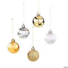 Silver & Gold Bulb Christmas Ornaments