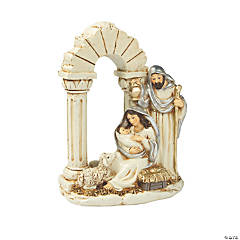 Silver & Gold Nativity Figurine
