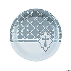 Silver Cross Paper Dinner Plates - 8 Ct.