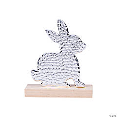 Silver Easter Bunny Tabletop Decoration