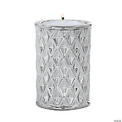 Silver Geometric Candle Holders