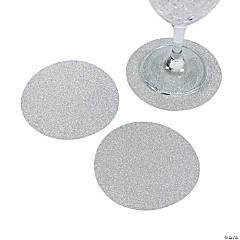 Silver Glitter Coasters