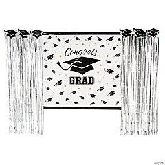 Silver Grad Backdrop Decorating Kit