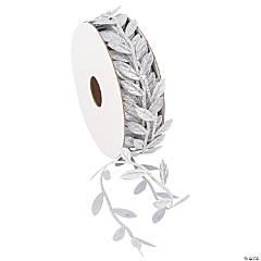 """Silver Leaf-Shaped Ribbon - 1"""""""