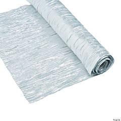 Silver Metallic Crepe Fabric Roll
