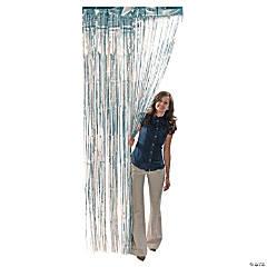 Silver Metallic Fringe Door Curtain