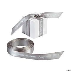 "Silver Personalized Ribbon - 5/8"""