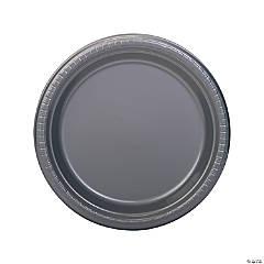 Silver Plastic Dinner Plates - 20 Ct.