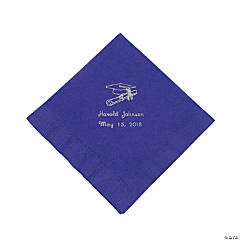 Silver Purple Grad Luncheon Napkin (50 pc) (P)