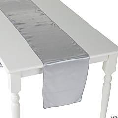Silver Satin Table Runner