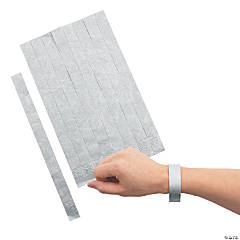 Silver Self-Adhesive Wristbands