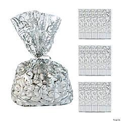 Silver Swirl Cellophane Bags