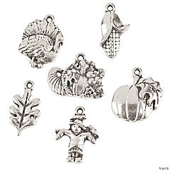 Silvertone Fall Charm Assortment