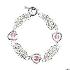 Silvertone Heart Bracelet Craft Kit
