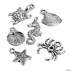Silvertone Metal By the Sea Charm Assortment