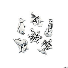 Silvertone North Pole Charms