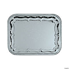 Silvertone Rectangular Serving Tray