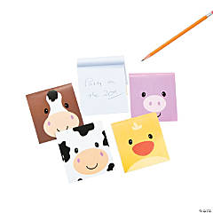 Simple Face Farm Animal Character Notepads