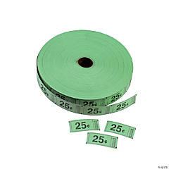 Single Roll Tickets - Green 25¢