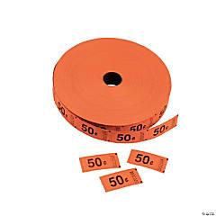 Single Roll Tickets - Orange 50¢