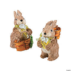 Sisal Easter Bunny Pair Tabletop Decoration