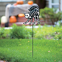 Skeleton Cat Yard Sign