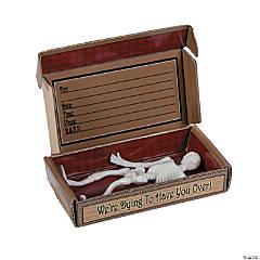 Skeleton Invitations in A Coffin Box - 12 Pc.