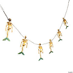 Skeleton Mermaid String Lights
