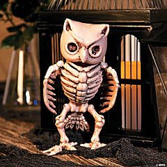 Skeleton Owl Halloween Decoration