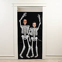 Skeleton Photo Door Banner Halloween Decoration