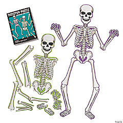 Skeleton Puzzle Scavenger Hunt Game