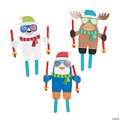 Skiing Craft Stick Craft Kit