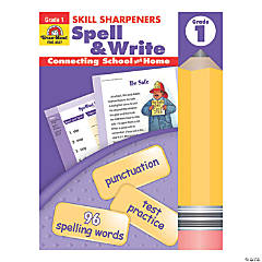Skill Sharpeners: Spell & Write Activity Book, Grade 1, 3 Books