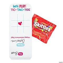 Skittles® Fun Size with Tic-Tac-Toe Valentine Card